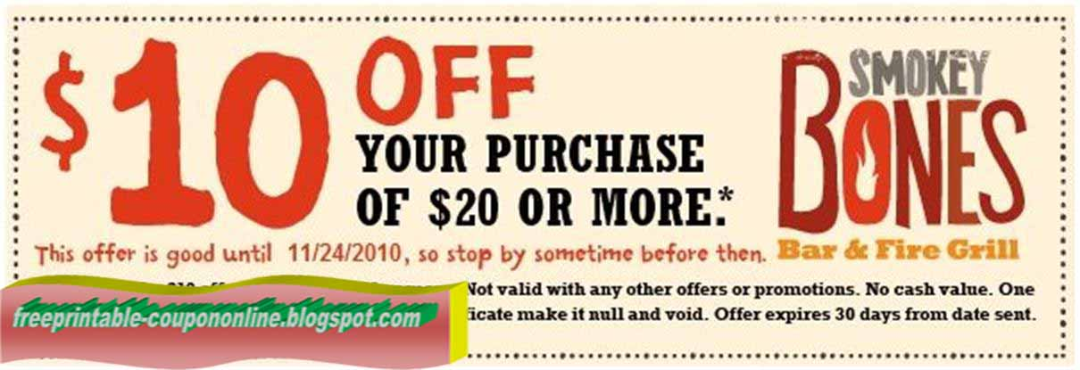 Smokey bones coupons 2018