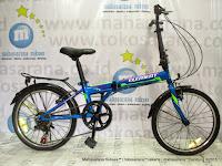 Sepeda Lipat Element City 7 Speed 20 Inci Blue