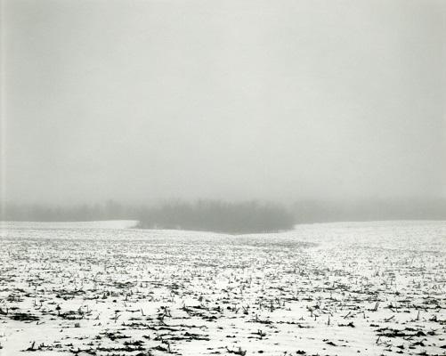 """from """"Illinois landscapes"""" - 1982 - photo by Rhondal Mckinney   sad winter black and white photos   imagenes bellas de soledad y tristeza, fotos en blanco y negro bonitas"""