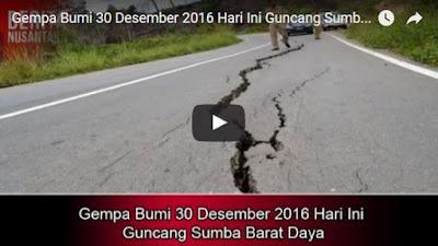 Gempa Bumi 30 Desember 2016 Hari Ini Guncang Sumba Barat Daya