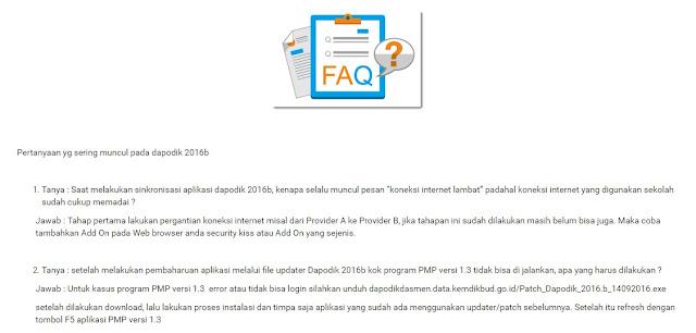 Inilah halaman web Dapodik yang membantu saya mengatasi error pada Aplikasi PMP