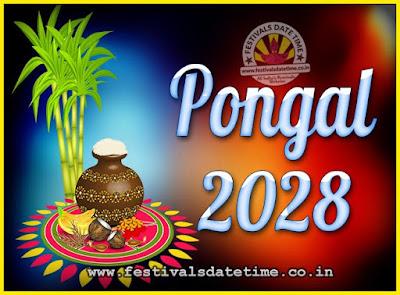 2028 Pongal Festival Date & Time, 2028 Thai Pongal Calendar