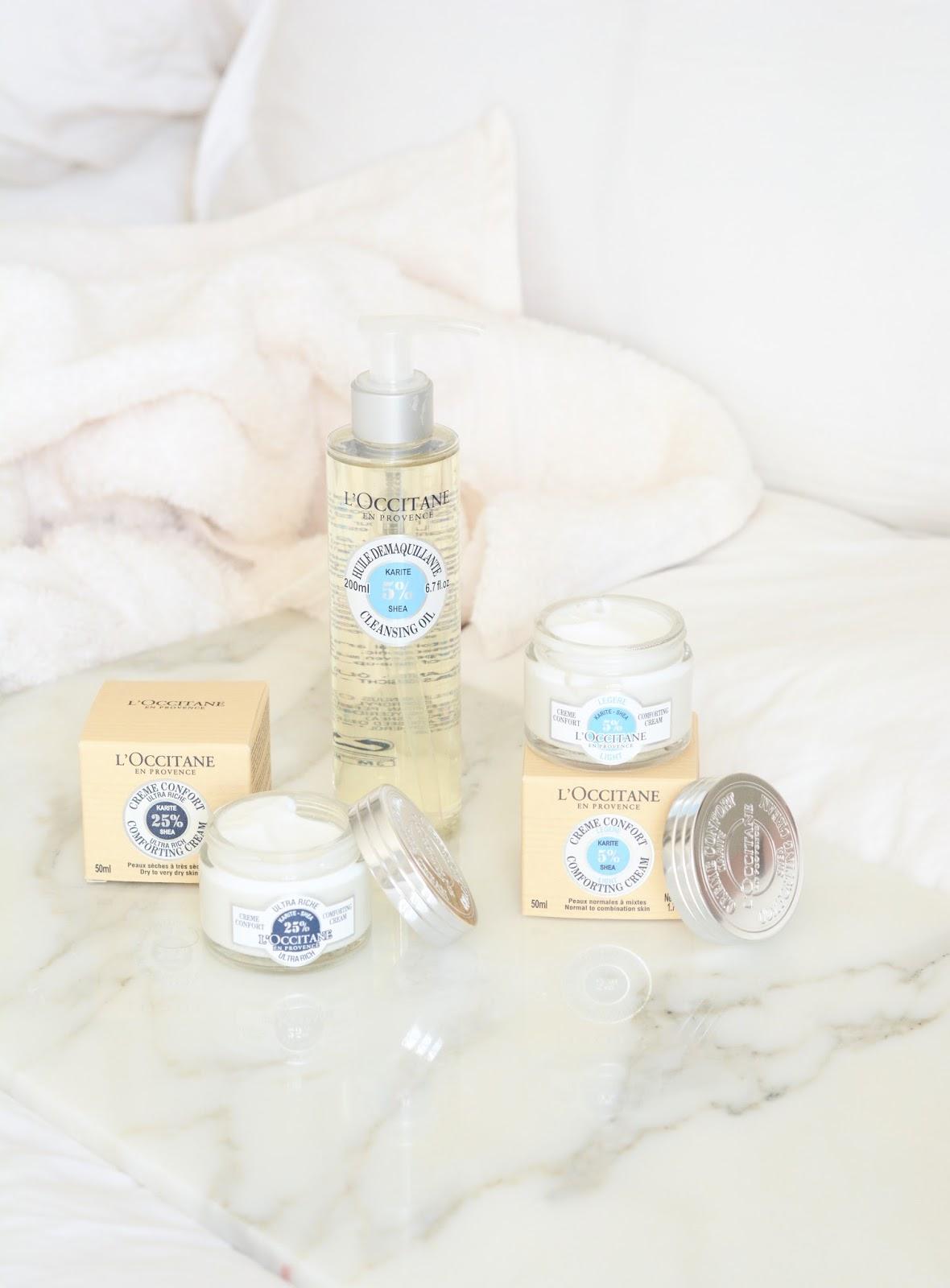 L'Occitane Shea Cleansing Oil Light Ultra Rich Comfort Cream Review Photos
