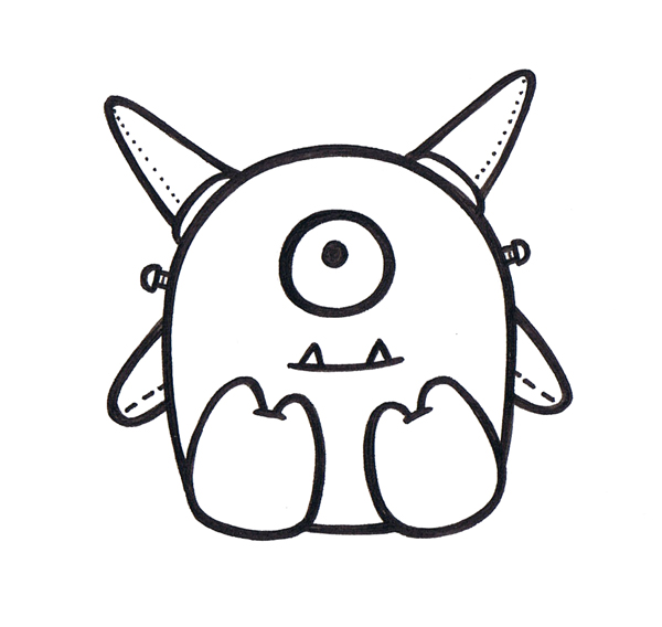 ... ! on Pinterest | Doodle Monster, Cute Monsters and Monsters
