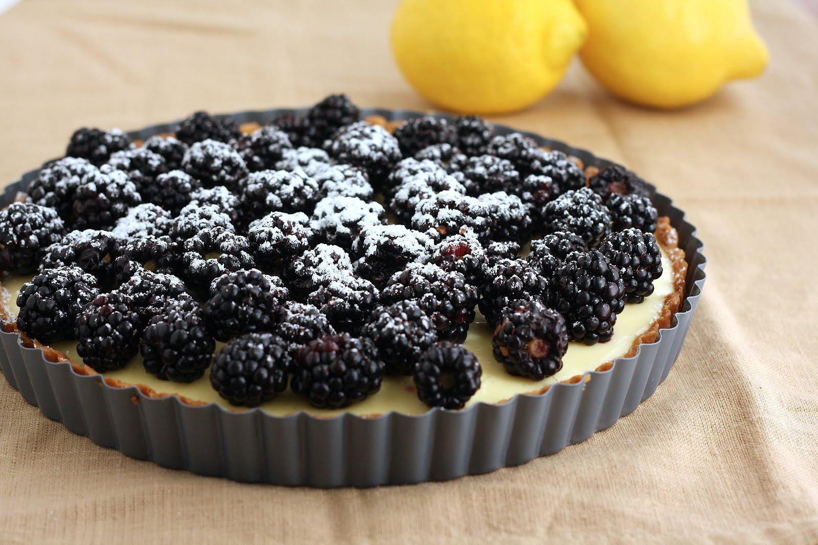 Lemon Blackberry Tart Hummingbird High A Desserts And