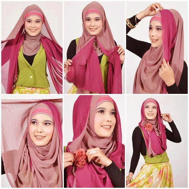 Kreasi Hijab Pashmina Sederhana