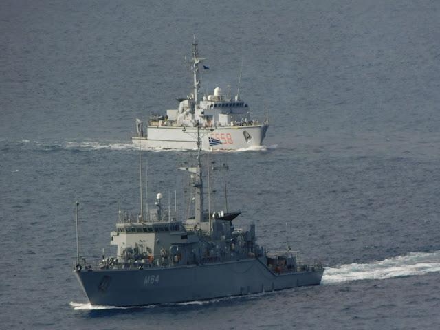 Πολεμικό Ναυτικό: Συνεκπαίδεση με την SNMCMG-2 στον Σαρωνικό - ΦΩΤΟ