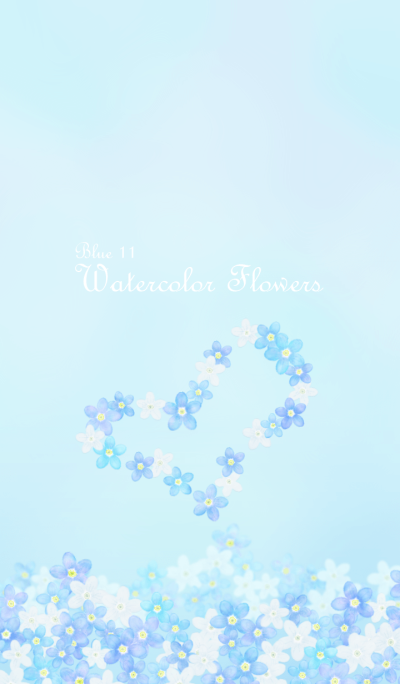 Watercolor Flowers[forget-me-not]/Blue11