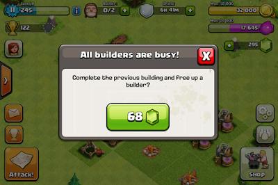 Gratis Gems COC untuk Membeli Builder