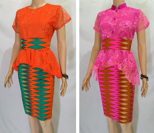 model baju rangrang kombinasi brokat