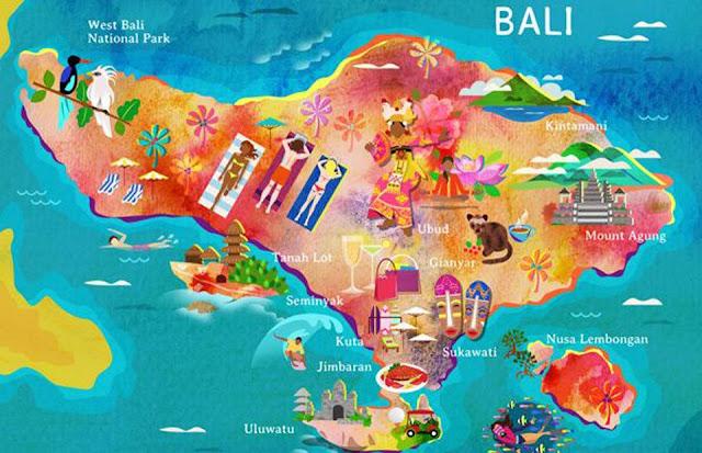 Bali Tourism Map
