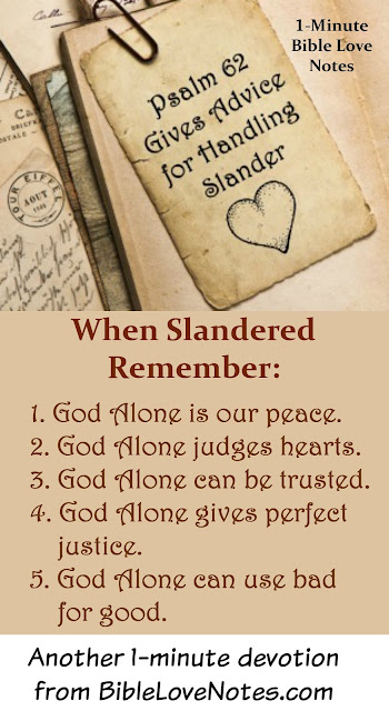 God Alone - 5 Truths from Psalm 62 to Help Us Deal With Slander