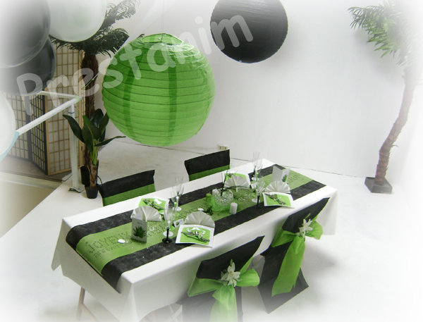 deco salle anniversaire noir et blanc. Black Bedroom Furniture Sets. Home Design Ideas