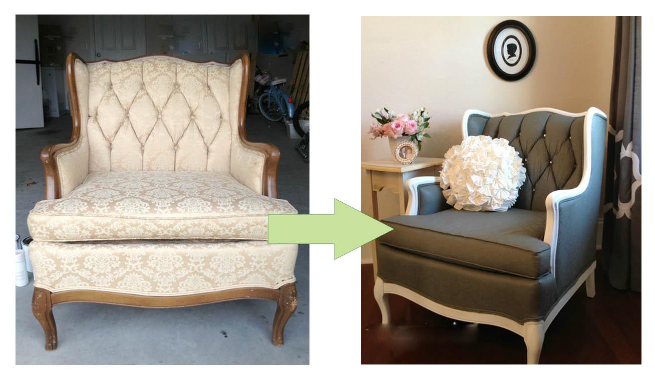 C mo pintar las telas y tapizados de sillas y sillones - Tapizados para sofas ...