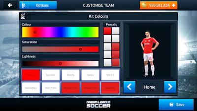 How to change the Dream League Soccer costumes