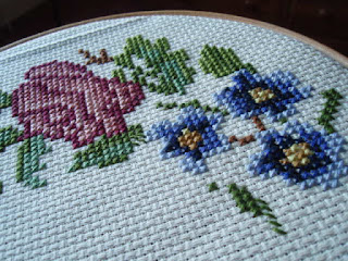Rosebud, from a Jane Greenoff pattern.