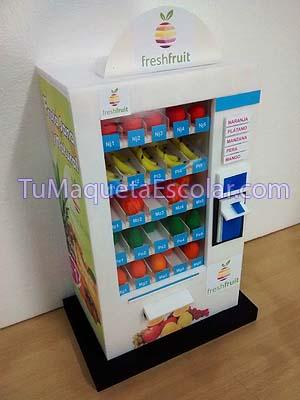 Maqueta de dispensador de frutas.