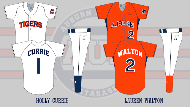 auburn softball uniform 2007