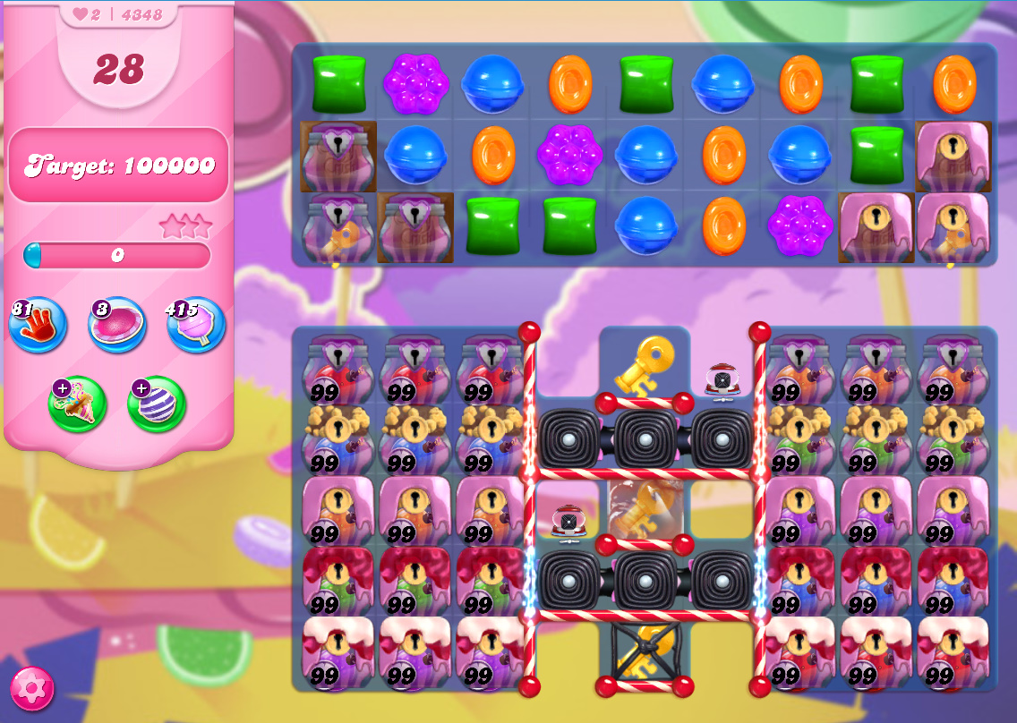 Candy Crush Saga level 4349