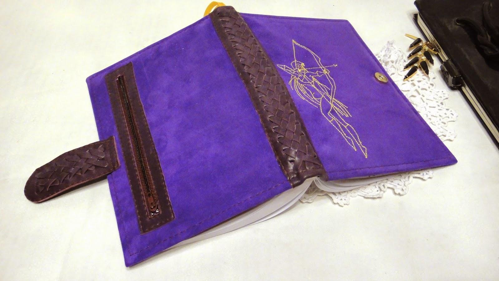 Датированный ежедневник 2015 из фиолетовой кожи Знаки Зодиака Стрелец Подарок девушке