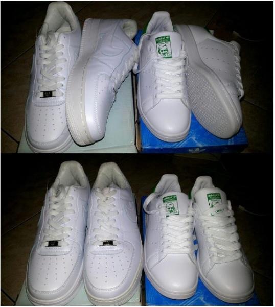 best website bfedd 79acc ... get kiri nike air force one kanan adidas stan smith punya mbak patjar  hehe 60532 1a633