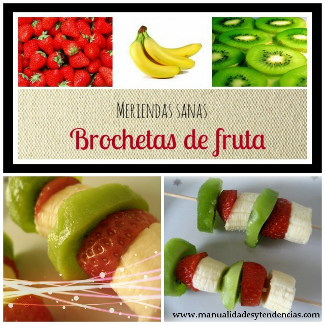 Brochetas de frutas / Fruit brochettes / Brochettes des fruits
