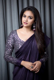 Keerthy Suresh with Cute and Lovely Smile for the Magudam Awards 2