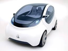 small white 4 passenger electric car prototype