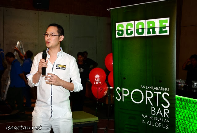 Director of The Group, Dax Lee giving his welcoming speech at Score
