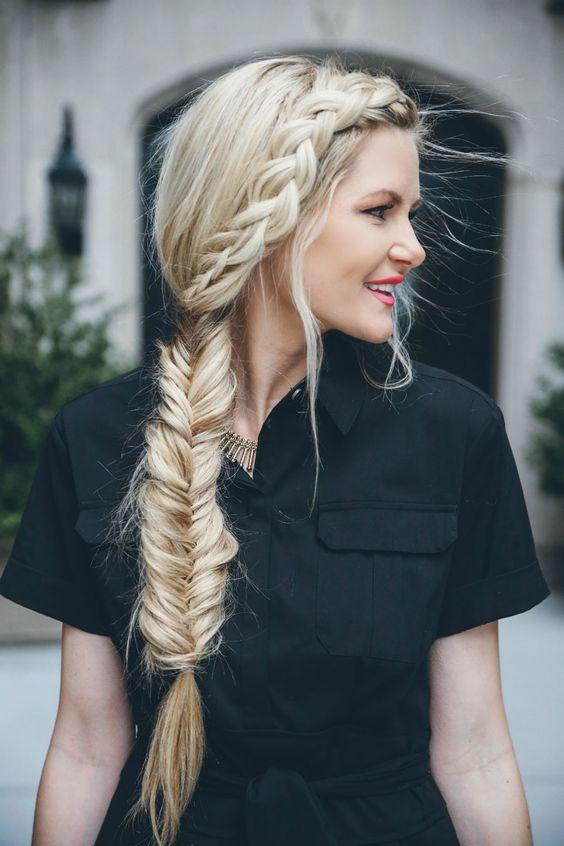 La moda en tu cabello encantadores peinados con trenza espiga o cola de pez - Peinado con trenza ...