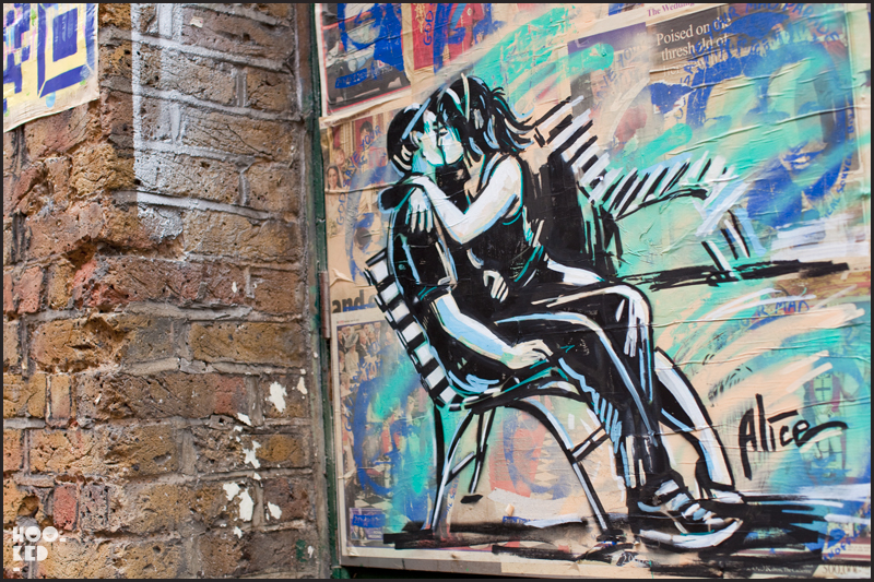 Alice Pasquini - Shoreditch Street Art on Blackall Street