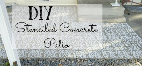 How to stencil a concrete patio