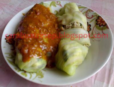 Foto Resep Kol Gulung Isi Daging Sapi Cincang Sederhana Spesial Asli Enak