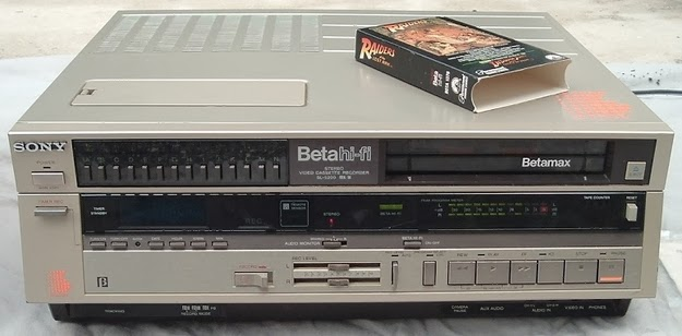 Your parents still holding on to the Betamax player, even though VHS had won the format war