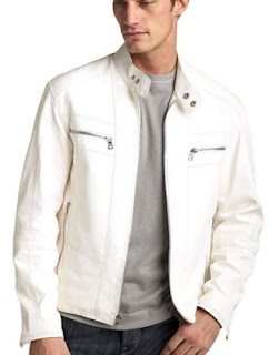 Gambar White Leather Jacket