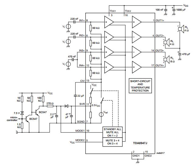 tda8947j audio amplifier 29w. Black Bedroom Furniture Sets. Home Design Ideas