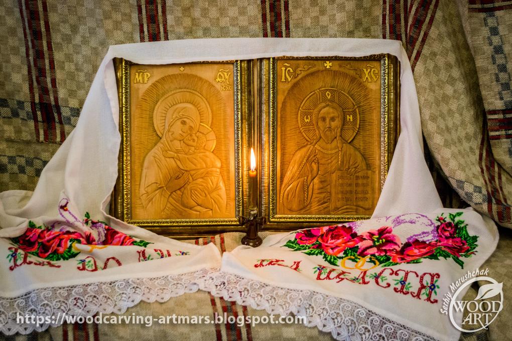WOODCARVING   Різьблення по дереву  Вінчальна пара ікон   Wedding ... 87b9d81526f85