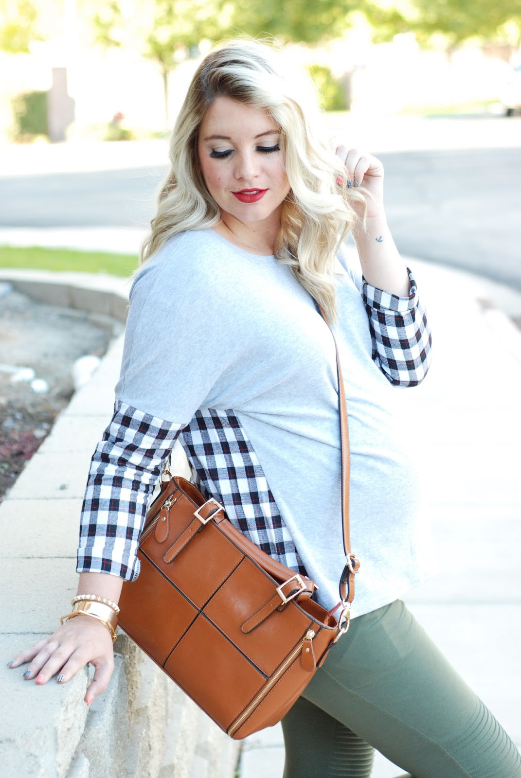 Plaid Shirt, Maternity Outfit, Pregnant Outfit