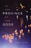 "Cover of ""In the Province of the Gods"", featuring the author, title, and a photo of lit candles."