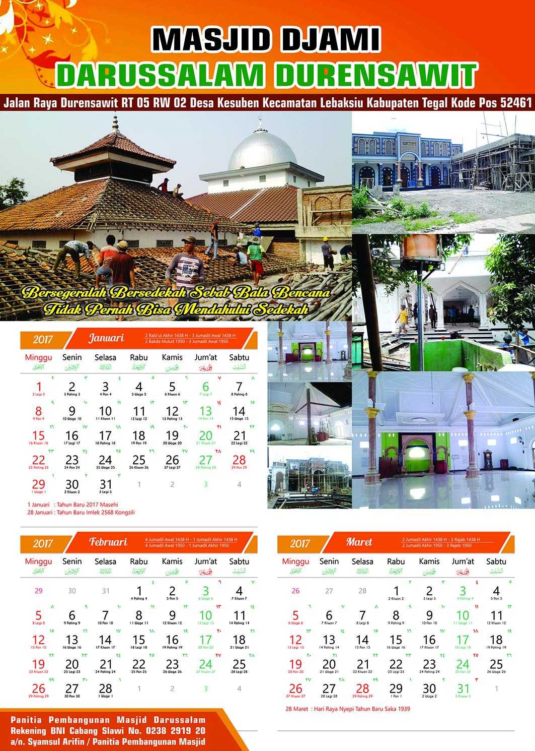 57+ Contoh Desain Kalender Dinding