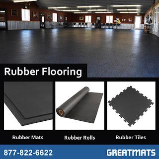 Greatmats rubber flooring infographic mats rolls tiles