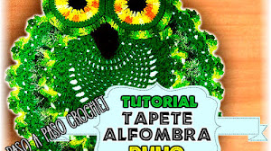 Alfombra Búho tejida a Crochet / Tutorial en español
