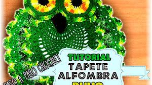 Alfombra Búho tejida a Crochet / Tutorial en español