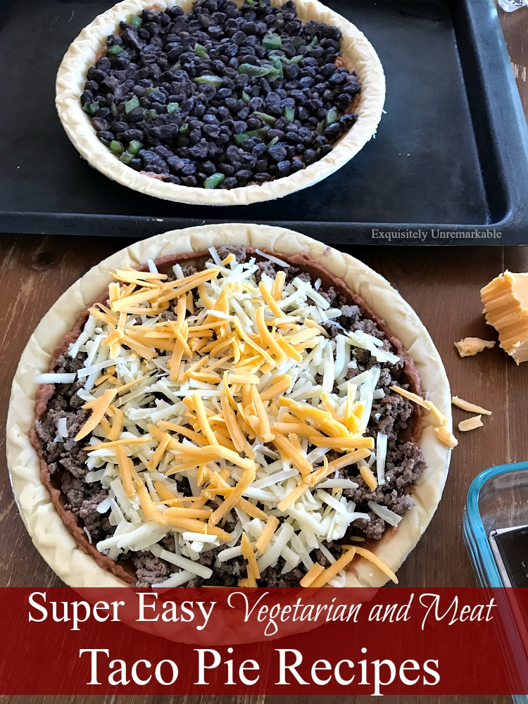 Vegetarian And Meat Taco Pie Recipes