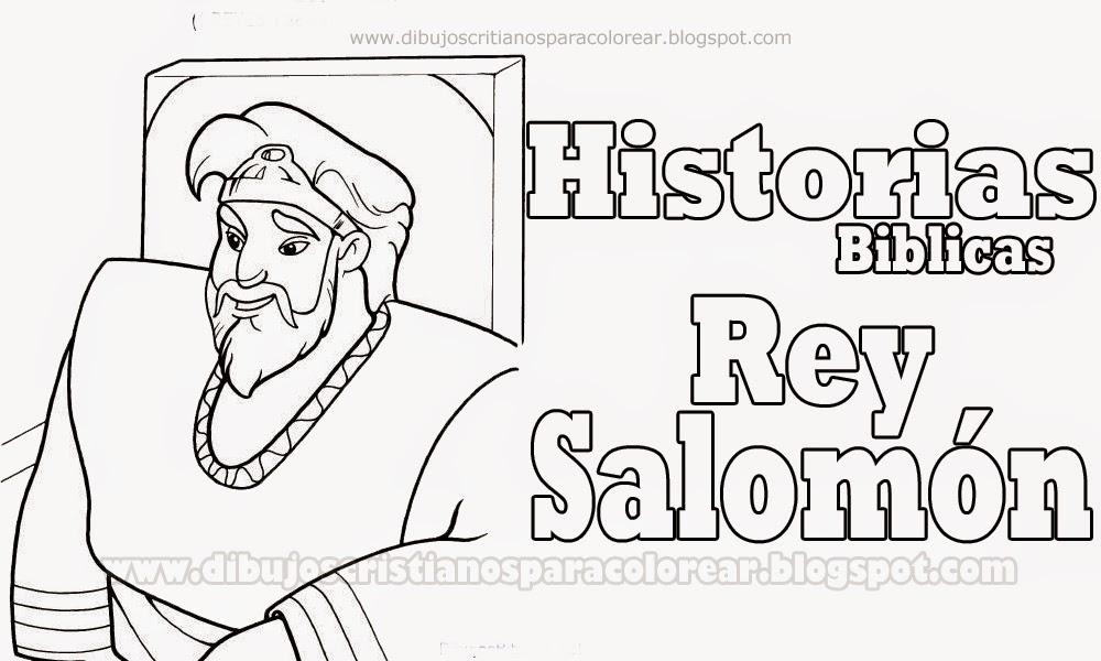 Historias Biblicas: El Rey Salomon Para Colorear