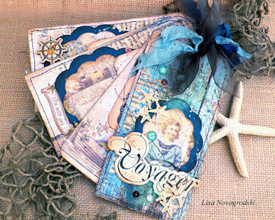 french riviera tag mini album by lisa novogrodski for the frank garcia design team