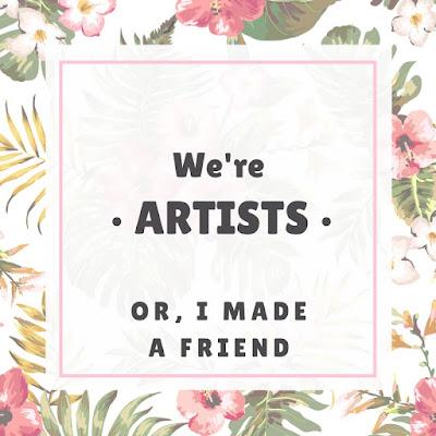 making friends, guitar, drums, artists, community
