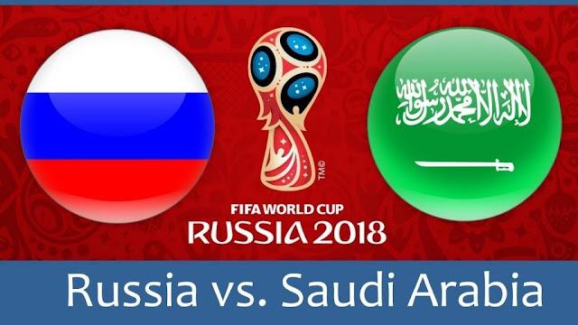 PRONOSTIC COUPE DU MONDE: RUSSIE VS ARABIE SAOUDITE