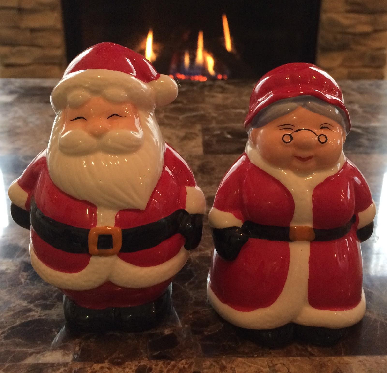 Publix Christmas Hours.Publix Mr Mrs Santa Claus Salt Pepper Shakers Blue