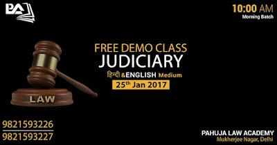 Free Judiciary Demo Class